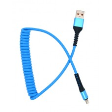 Телефонный шнур USB 2.0 - IPHONE 5/6/7    вилка - вилка  1.0 м.  3.0 A витой