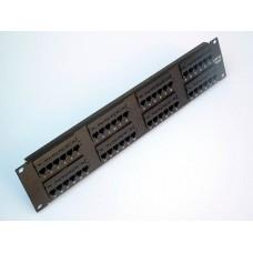 """Патч-панель 19"""" 48 портов cat. 5E 2U, Dual Type"""