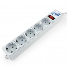 Сетевой фильтр Power Cube 5 розеток серый