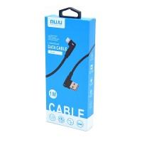 Телефонный шнур USB А - micro USB В вилка - вилка угловые 1,0 м. 3.0 А
